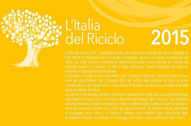 L'Italia del riciclo 2015